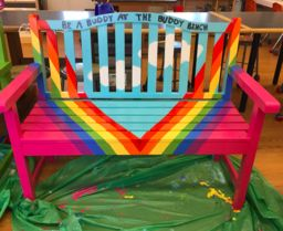 Fourth Grade Leadership Squad Presents New Buddy Benches