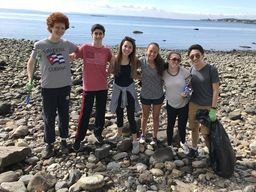 Students Support International Coastal Cleanup Day