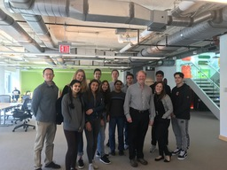 Computational Biology Students Meet Alumnus at NY Genome Center