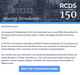 Alumni Newsletter - November 2018