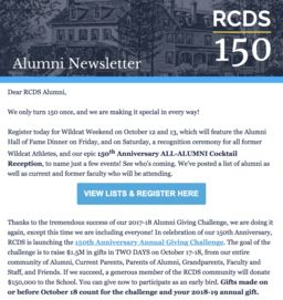 Alumni Newsletter - October 2018