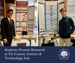 Students Present Research at Tri-County Science & Technology Fair