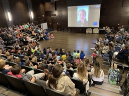 Character Spotlight: Olympian Skypes with Lower School