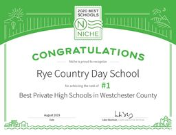 Rye Country Day Earns High Marks from Niche