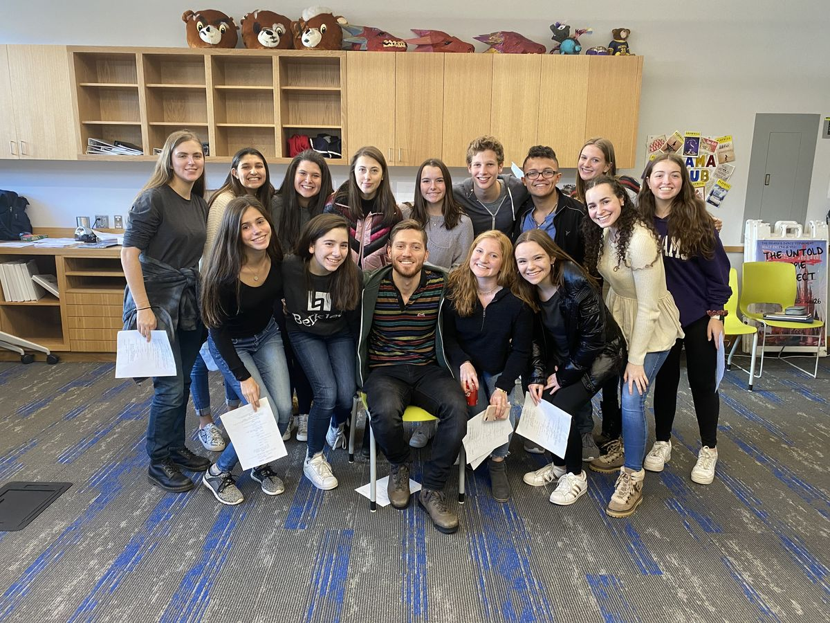 Broadway Actor Adam Jepsen Visits Upper School Directing and Acting Classes