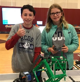 Upper and Middle School Robotics Teams Compete