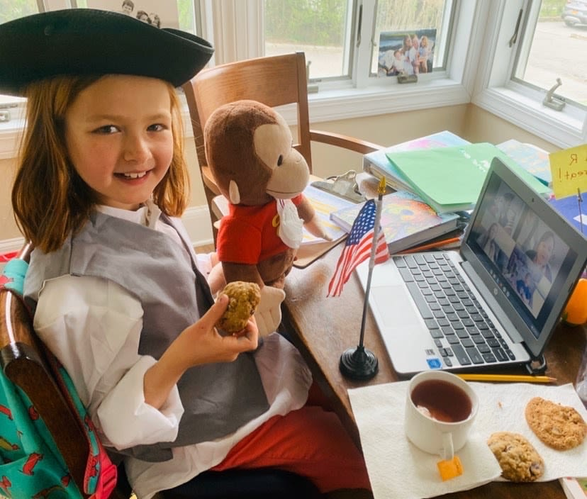 History, Math, and Fun—Online! Third Graders Learn about the Boston Tea Party during RCDS@home